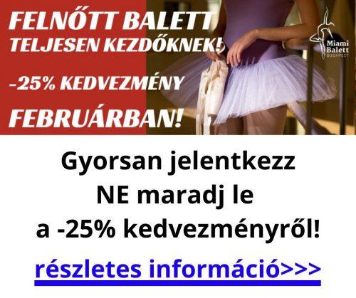Felnőtt balett oktatás februárban