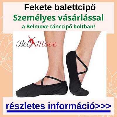 Több méretben fekete balettcipő személyes vásárlása
