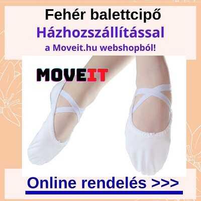 Több méretben fehér balettcipő rendelése webshopból