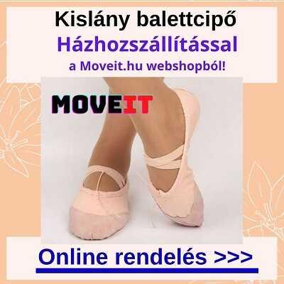 Több méretben kislány balettcipők vásárlása online webáruházból