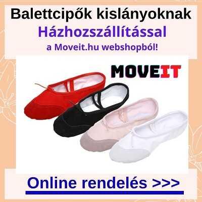 Több méretben balettcipők kislányoknak rendelése online webáruházból