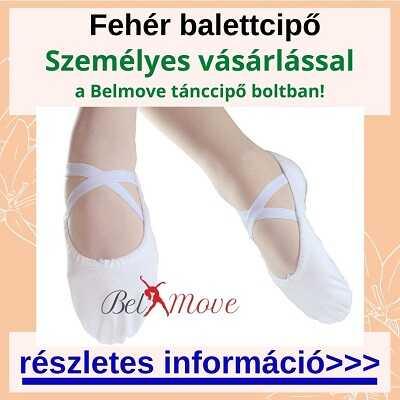 Több méretben fehér balettcipő személyes vásárlása