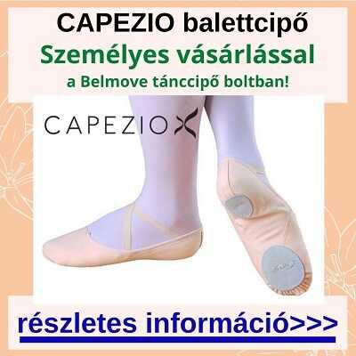 Több méretben Capezio balettcipő személyes vásárlása