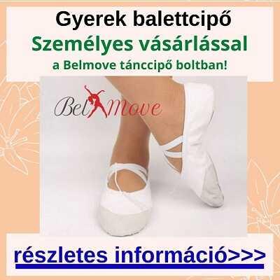 Több méretben gyerek balettcipők vásárlása boltban a Nyugatinál