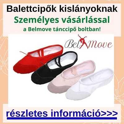 Több méretben balettcipők kislányoknak vásárlása boltban a Nyugatinál