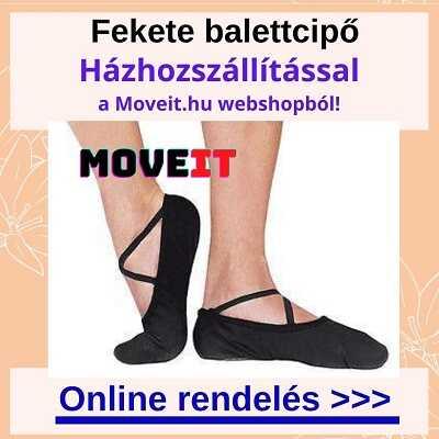 Több méretben fekete balettcipő rendelése webshopból